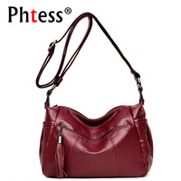 2018 Women Messenger Bags Small Leather Shoulder Bags Female Vintage Crossbody Bags For Women Sac A