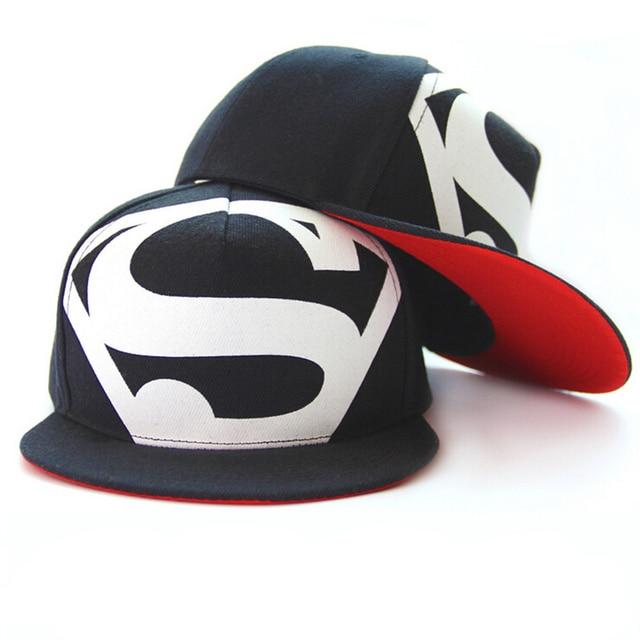 Hot! nouveau Arrivent Mode Hip Hop Superman Snapback Caps Chapeaux Pour Hommes Femmes D'été Décontracté Casquette de baseball Chapeau Livraison Gratuite