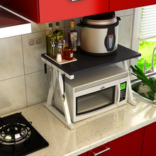 2017 Sale New Wood Rack Microwave Oven Shelf Receive Seasoning Console Rice Cooker Double Storage Floor Type Kitchen Metal Rac