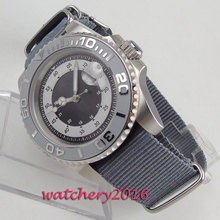 NEW 40mm Sterile Dial Rotating Ceramic Bezel Luminous hands Date Bliger men's Watch nylon strap Automatic Movement men's Watch все цены