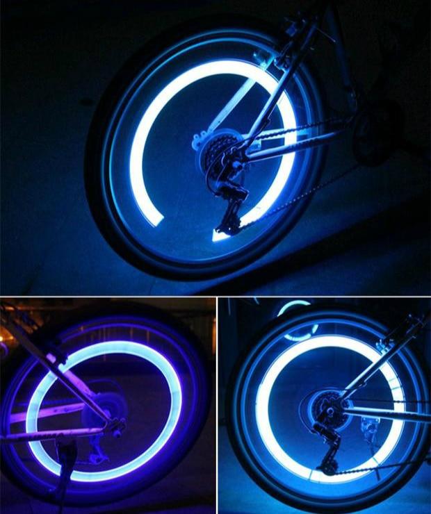 4 Stks Motor Fietsen Bike Tyre Klep Waterdichte LED Auto Fietswiel ...