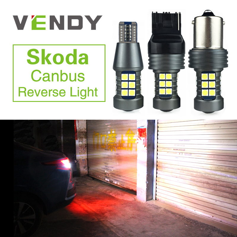 2x W16W 921 T15 P21W BA15S W21W Canbus Car Auto <font><b>LED</b></font> Backup Reverse Light Bulb For <font><b>Skoda</b></font> Superb <font><b>Octavia</b></font> A7 A 5 2 Fabia Rapid Yeti image