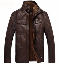 Autumn and winter quality men's leather jacket