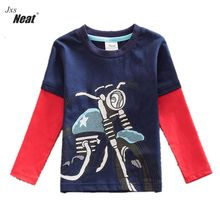 Neat new style comfortable lovely pattern cotton baby boy clothes long sleeve t shirts Children clothing