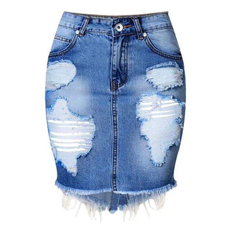 Aliexpress.com : Buy 2016 Women Denim Skirt Jeans High Waist Mini ...