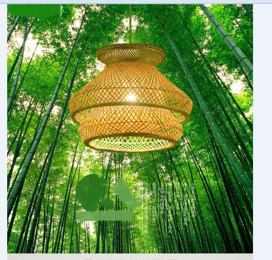 Southeast Asia Zen Jade Bamboo Pendant LightsRestaurant Box Light Tea Room Study Japanese Daylight Lights Lanterns LU726251 chinese chandelier japanese style living room bedroom restaurant bamboo lanterns southeast asia tatami antique tea room box led