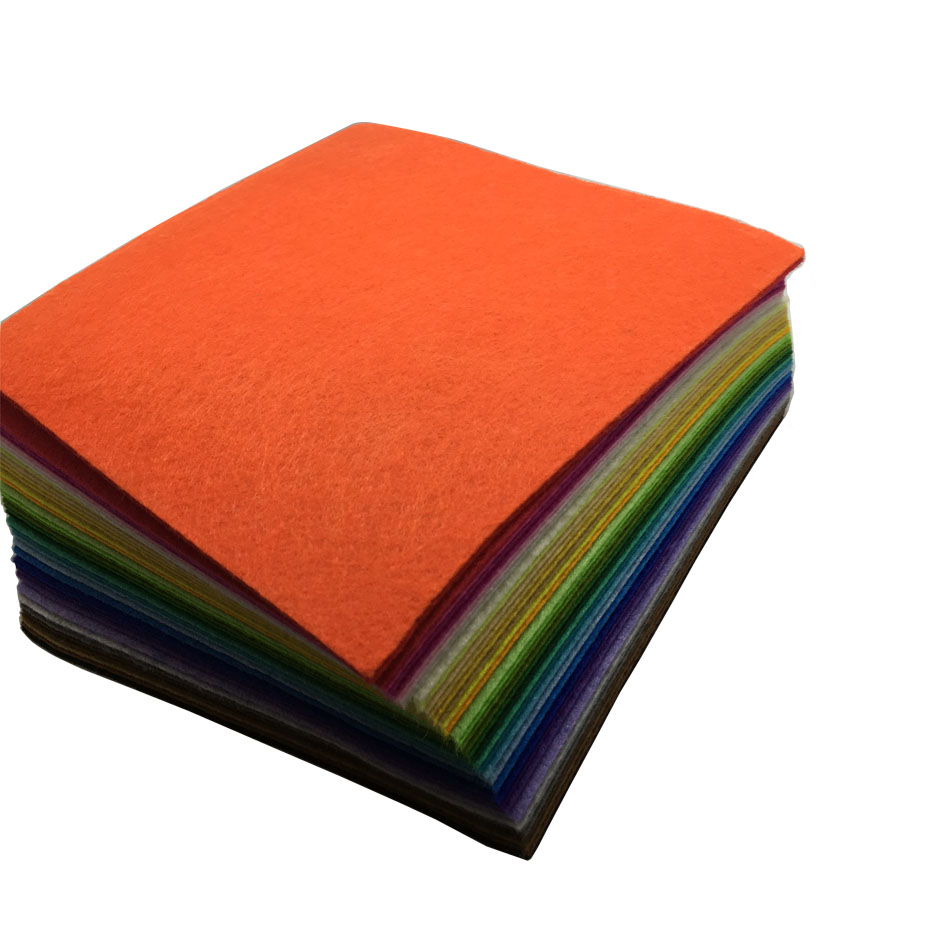 15 * 15CM 30 * 30CM 40PCS Blandade färger Nov Woven Filt Fabric Filt - Konst, hantverk och sömnad - Foto 1