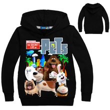 Фотография Y01-X628 new year spring autumn children girls boys clothes cartoon printed cotton hoodie tops pets 1pcs