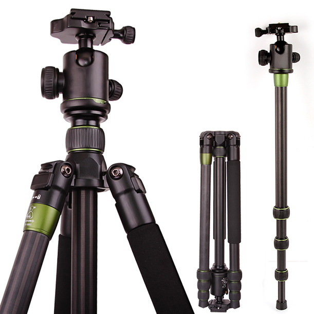купить SYS500C Professional DSLR Camera Carbon Fiber Tripod Monopod BallHead Heavyduty