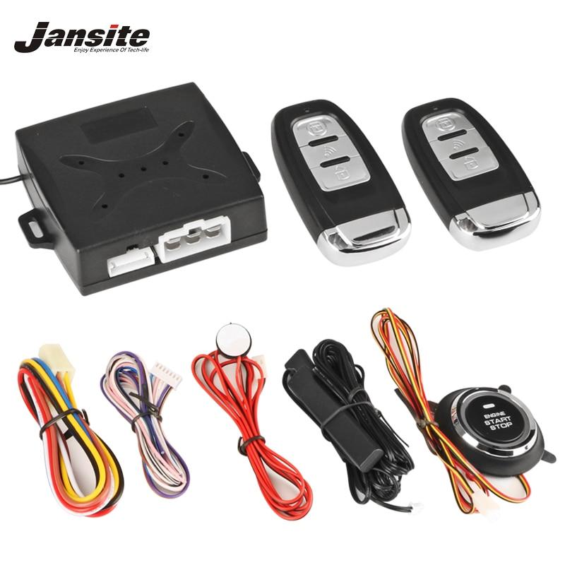 Jansite Auto Alarme De Voiture Moteur Push Bouton Start Stop Contacteur d'allumage Serrure Système D'entrée Sans Clé de Démarrage Anti-vol Système