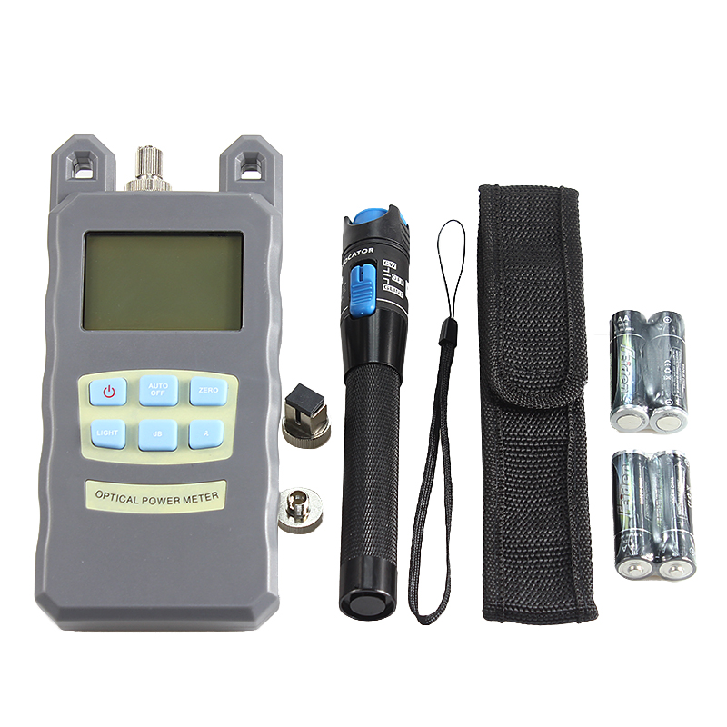 Image 5 - 16type Fiber Optic FTTH Tool Kit with Fiber Cleaver and Optical Power Meter Visual Fault Locator Wire scissors-in Fiber Optic Equipments from Cellphones & Telecommunications