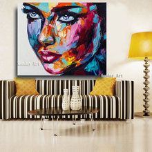 Large Size artwork Fantasy Woman Face oil painting handmade Canvas figure Oil Paintings Modern Wall  Art Posters For living room