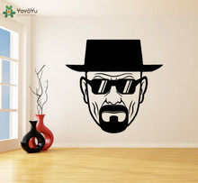 YOYOYU Wall Decal Vinyl Room Decoration Breaking Bad Heisenberg with sunglasses Arr Sticker Mural YO403