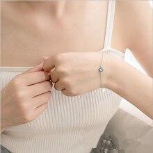 TJP Latest Women 925 Silver Bracelets Jewelry Fashion Gold Link Chain Blue Crystal Eye Girl Anklets Women Accessories Bijou Hot