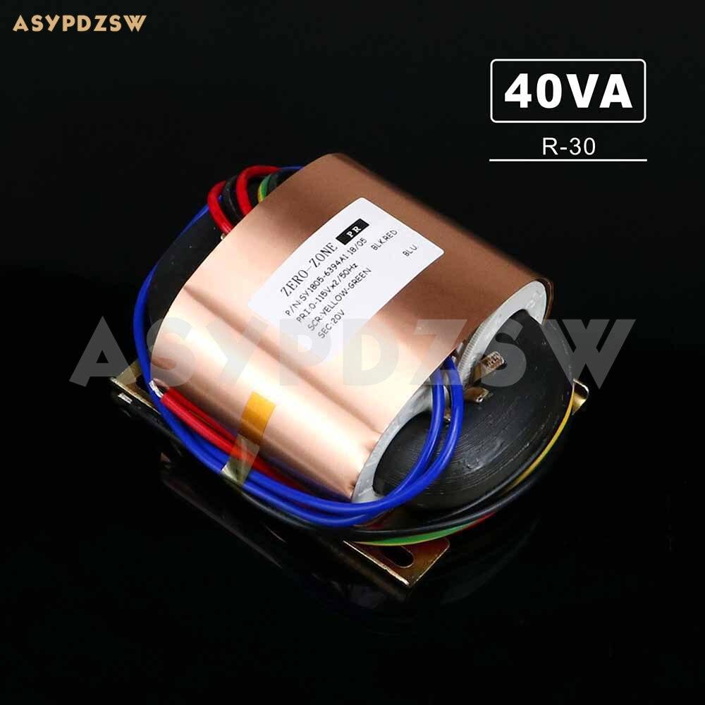 115V 230V R 30 40VA R type transformer With copper foil shield R Core 40W 18V