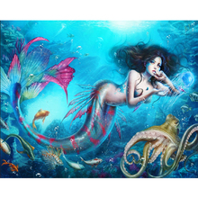 Mermaid diamond Embroidery diy painting mosaic diamant 3d cross stitch pictures H832