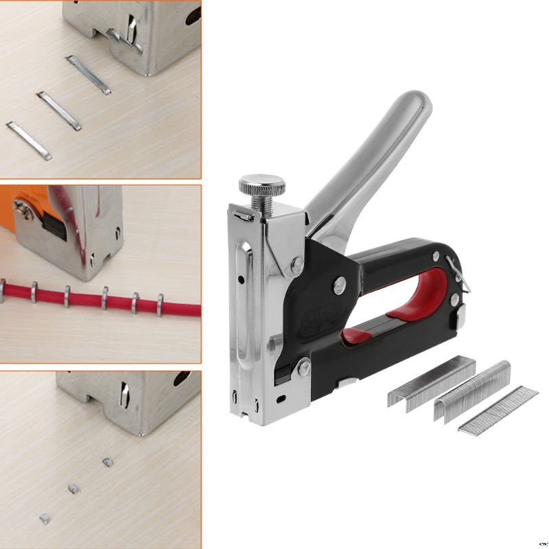 Heavy Duty 3 In 1 Multitool Nail Staple Gun Stapler Stapling Machine For Wooden Door Furniture Tool Have Staples Nails