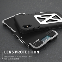 R-JUST Original Stainless Iron Men Metal Flip Case For Iphone X XS MAX XR 6 6S 7 8 Plus 10 6.5 Armor King Shockproof Cover Shell цены
