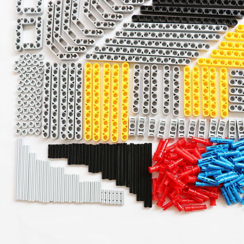 Image 3 - 540PCS Bulk Building Blocks Bricks MOC Toys Technic Liftarm Beam Axle Connector Axle Legoes Technic Parts Truck Car Accessory-in Blocks from Toys & Hobbies