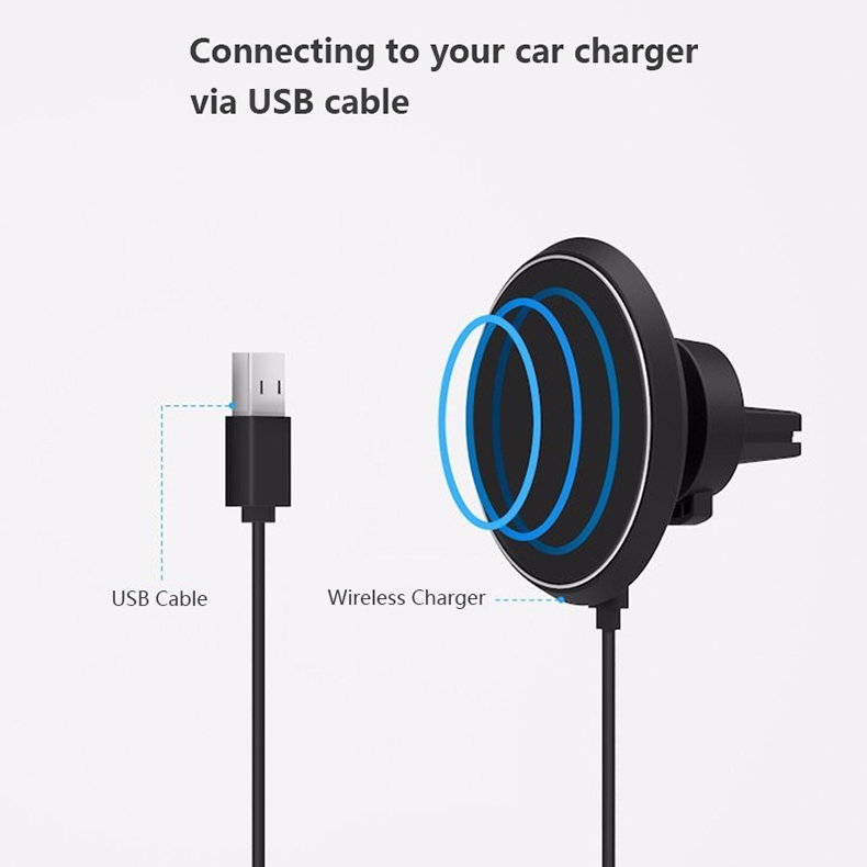 360 Degree Rotation QI Standard Phone Car Magnetic Wireless Charger Air Vent Holder For Samsung Galaxy S8 S8 Plus S7 Edge S7 (7)