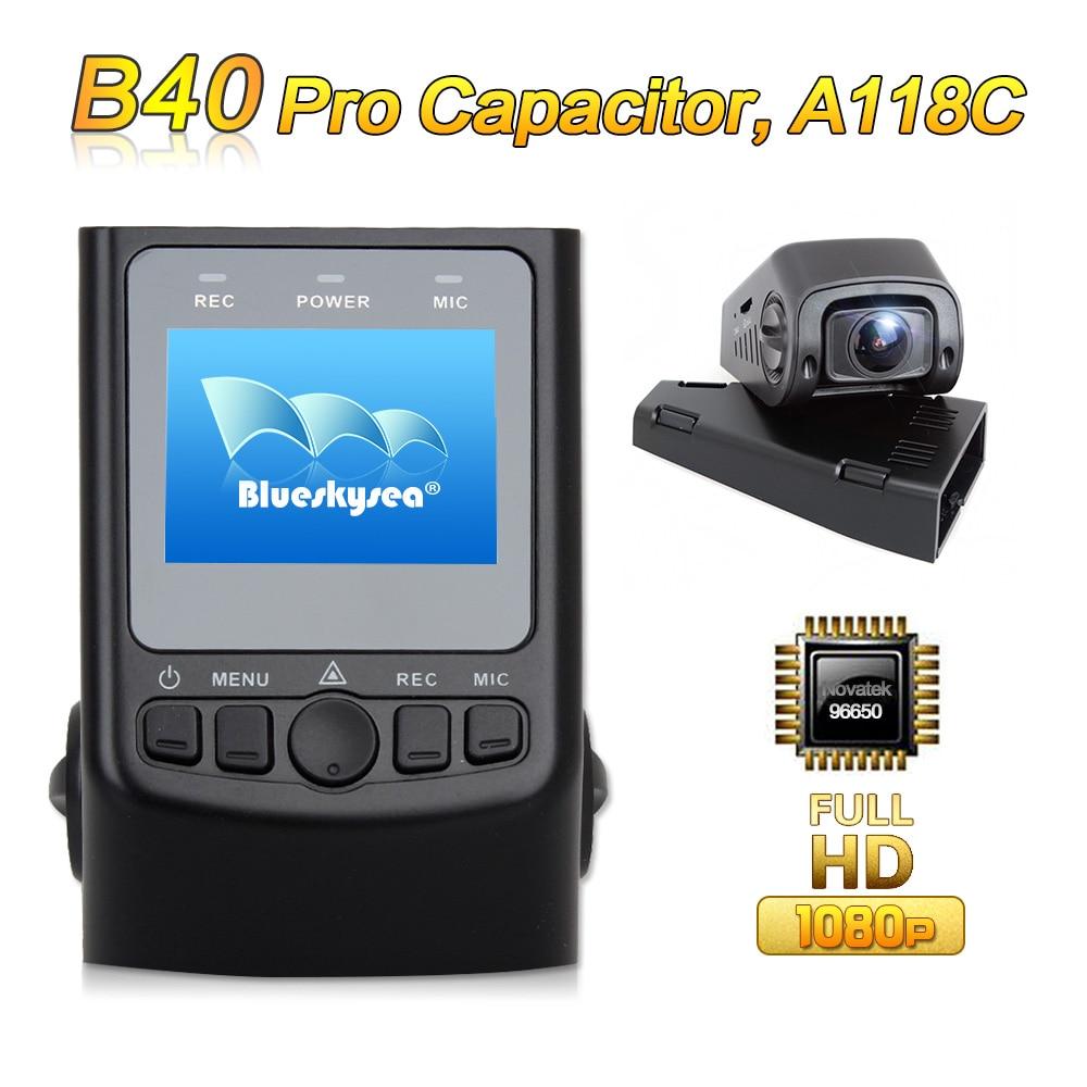 imágenes para Actualizado B40 PRO Condensador A118C Novatek 96650 H.264 HD 1080 P Tablero de Coches Cámara de vídeo DVR Del Coche GPS Opcional cableado