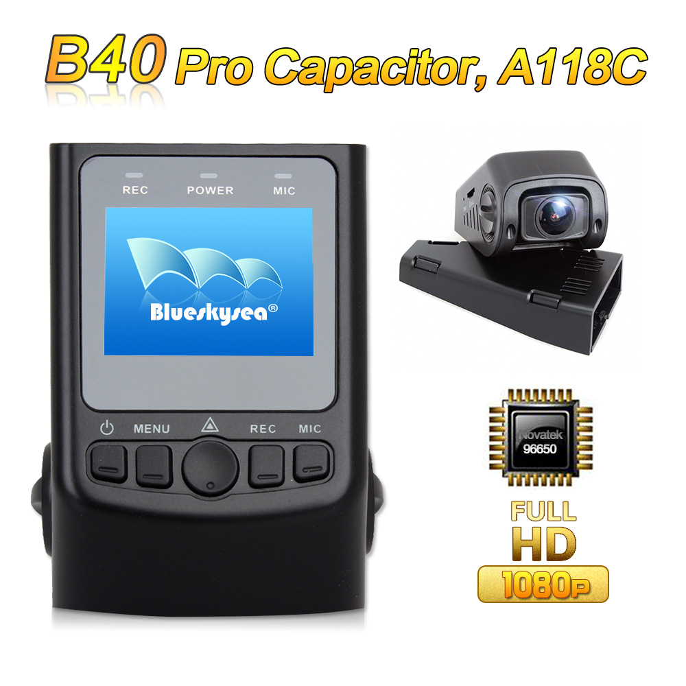 Upgraded B40 PRO Capacitor A118C Novatek 96650 H 264 HD 1080P Car Dash font b Camera