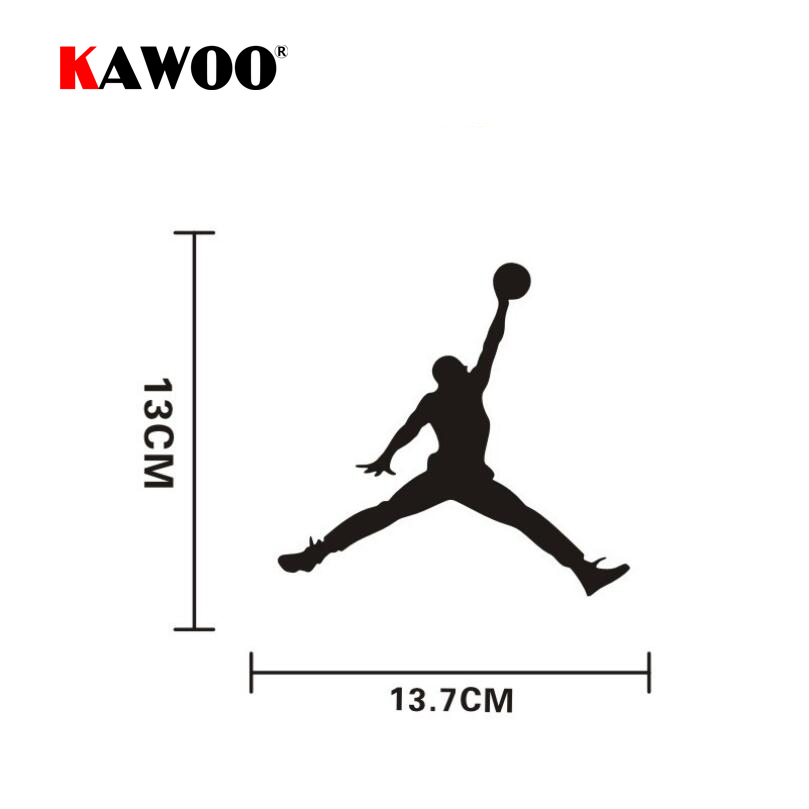 KAWOO 2pcs/lot Car Accessories United States Basketball Michael Jordan Car Sticker Personality Creative Decals 13*13.7cm