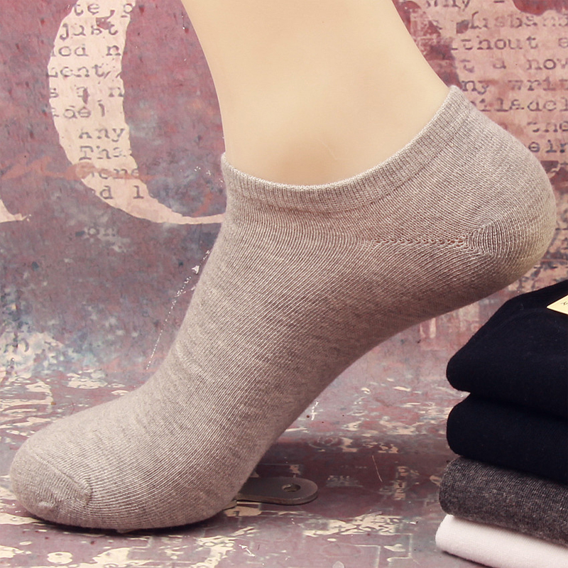 Hot Sale New High Quality Cotton Mens Socks Fashion Leisure Classic Solid Color Shallow Mouth Socks