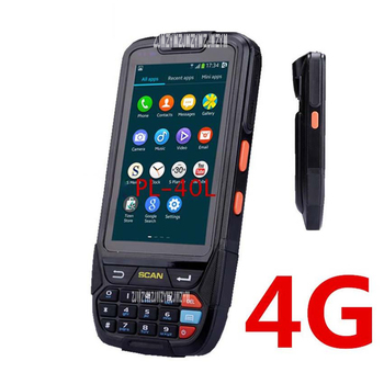 PL-40L Handheld scanner mobile 2D scanner di codici a barre industriale touch screen con GPS con RFID UHF (1-2 M) 4,000MAH