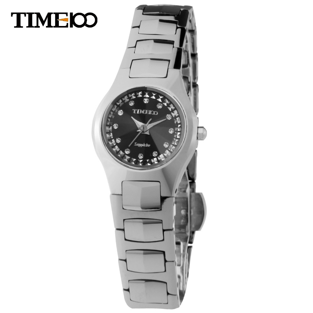 где купить New Hot Fashion TIME100 Lady's Analog Display WaterResistant Full Steel Wristwatch Tungsten steel Strap Women Quartz Watch по лучшей цене