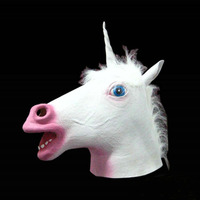 Horse Mask Party Cosplay Adult Mask 2019 New Fashion Mask Funny Animal Head Mask Latex Halloween Gifts Kids