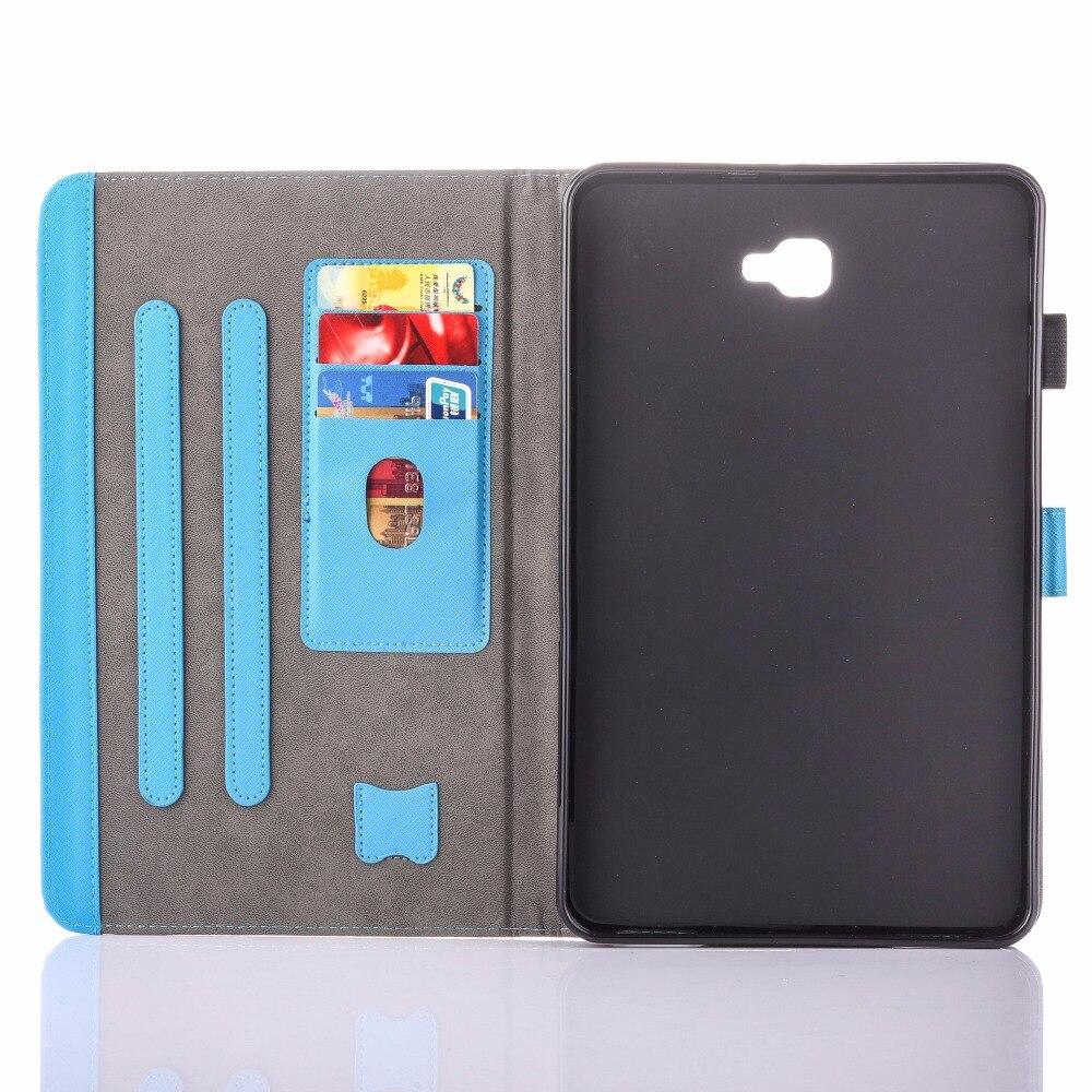 Para Samsung Galaxy Tab A 10.1 T580 Estuche New Animal Impreso Folio - Accesorios para tablets - foto 5