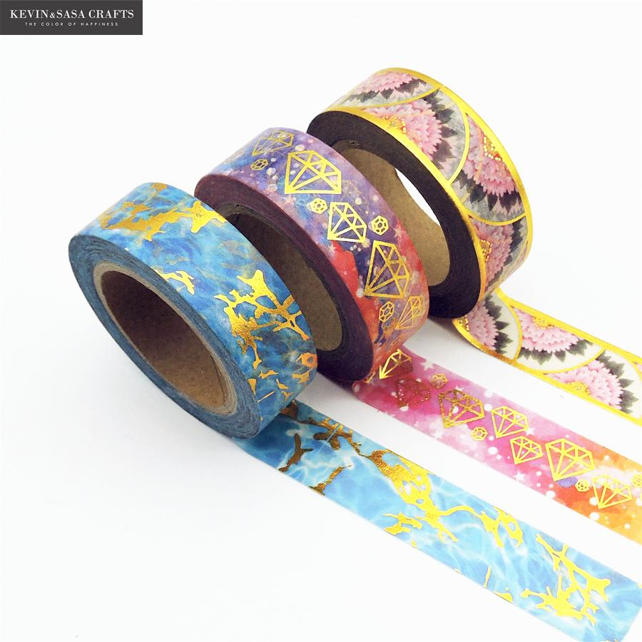 New Foil Washi Tape Quality Stationery Diy Scrapbooking Photo Album School Tools Kawaii Scrapbook Paper Washitape Stickers red washi tape diy glitter colors stationery decorative scotch tape scrapbooking photo album school tools kawaii scrapbook paper