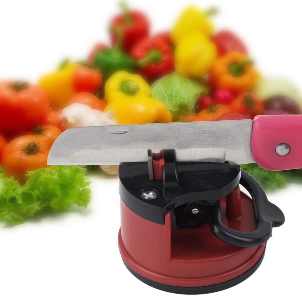 1Pc Professional Chef Pad Kitchen Sharpening Tool Knife Sharpener Scissors Grinder Secure Suction sharpener for knives
