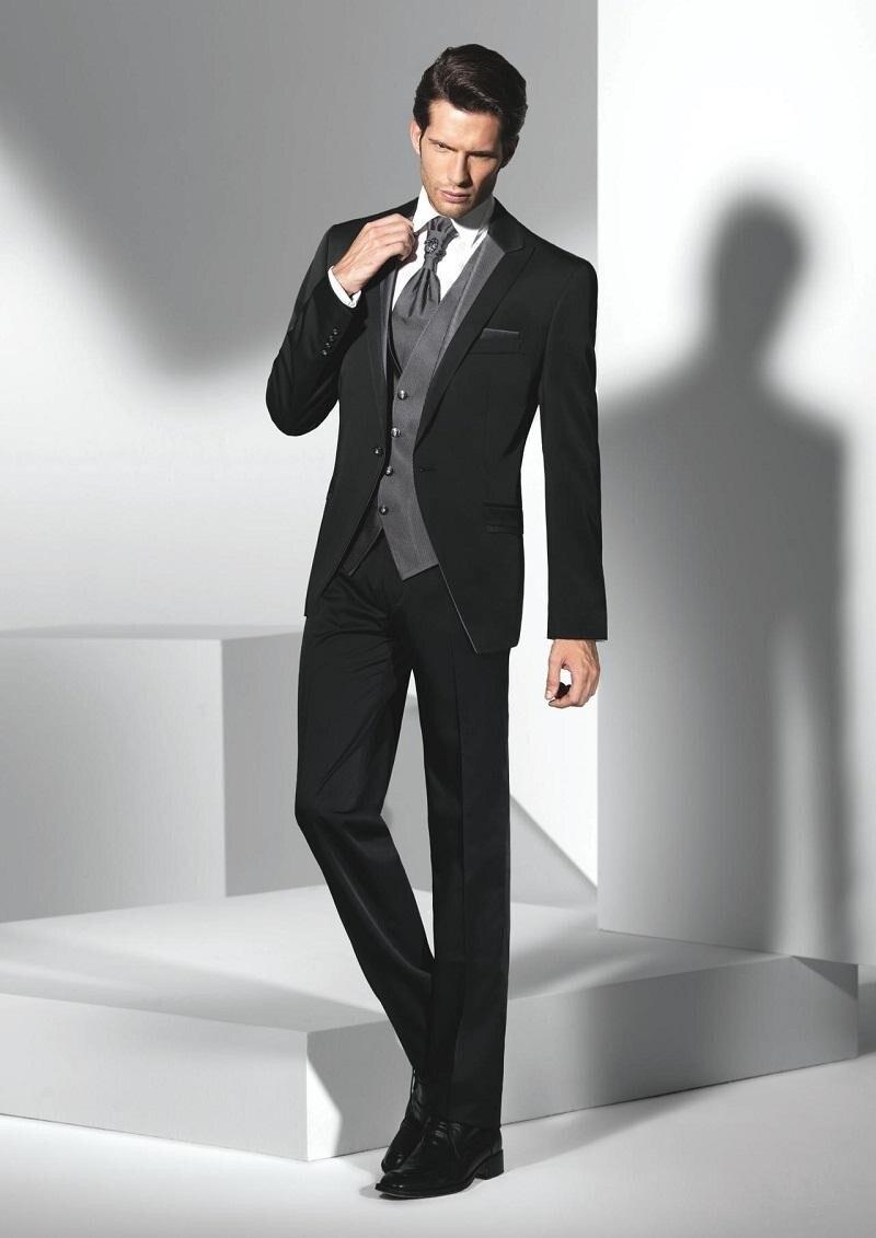 Click here to Buy Now!! Classique Style Un Bouton Noir Smokings de Marié de  Garçons D 36b53a94199