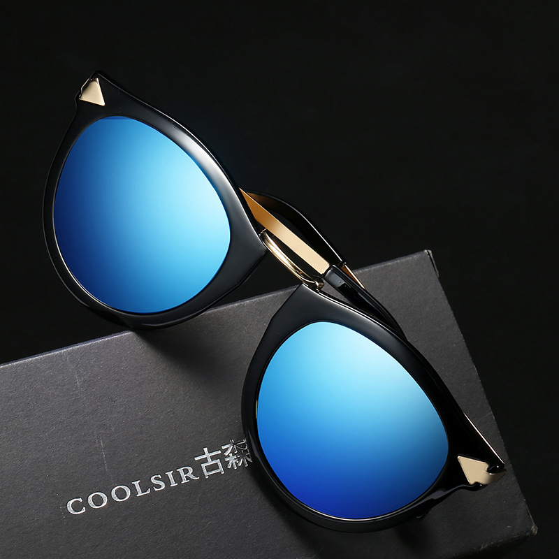 Fashion Vintage UV400 Polarized Sunglasses Retro Cat Eye Outdoor Driving Sun Glasses for Women Cool Punk Eyewear with Zip Case in Women 39 s Sunglasses from Apparel Accessories