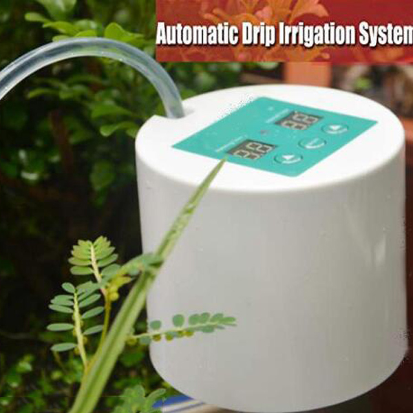 Potted Pump-Controller Plant-Timer Drip-Irrigation Greenhouse Auto-Automatic-Watering-System title=