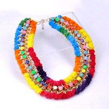 New 2014 Big Chunky Choker Collier Women Necklaces Pendantes & Colares Chains Brand conjunto bijuterias Perfumes Women Floating