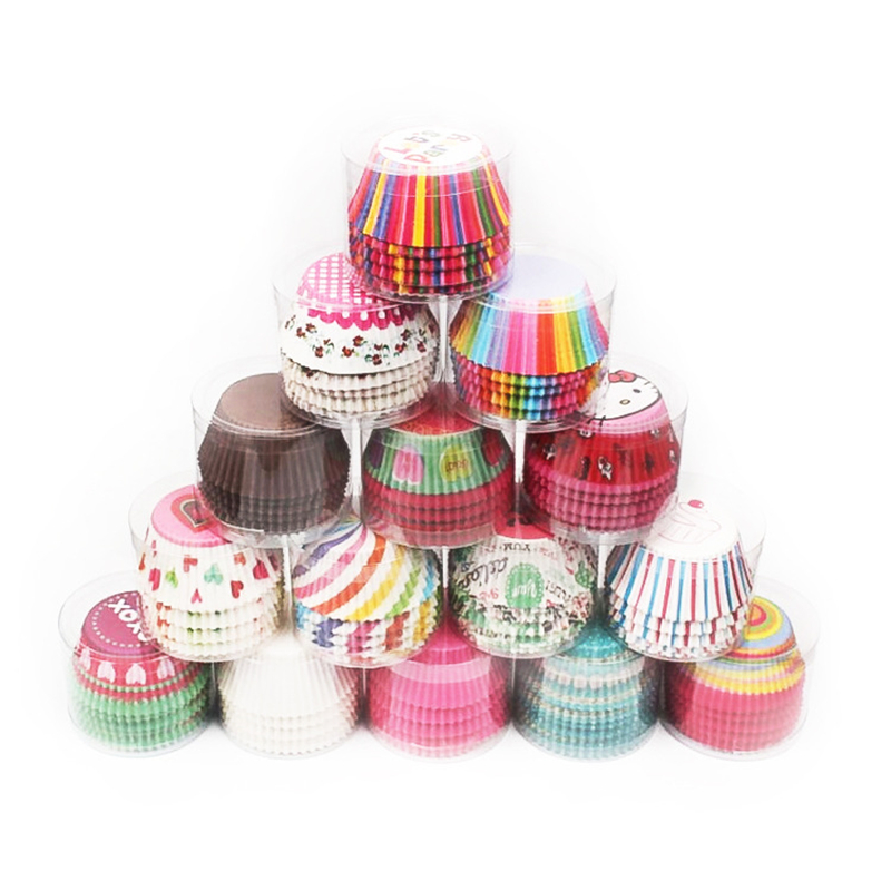 200pcs/lot DIY Cake paper tray Baking utensils Muffin oil-proof chocolate Individually wrapped about cake cups AB340