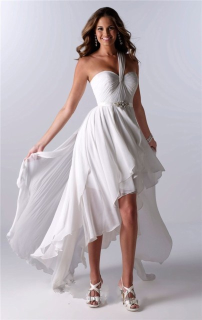 cdee467ca6d MANSA Simple Sweetheart Backless Short Beach Wedding Dress Short Front Long  Back Summer Chiffon Wedding Gown Vestido Noiva Curto