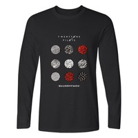 Twenty One Pilots Number Style Men Tshirts Cotton Long Sleeve Plus Size 4XL Long Sleeve T