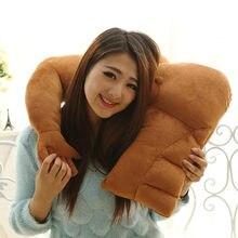 Almohada para brazo de novio, juguete de felpa suave de peluche, brazo musculoso para dormir