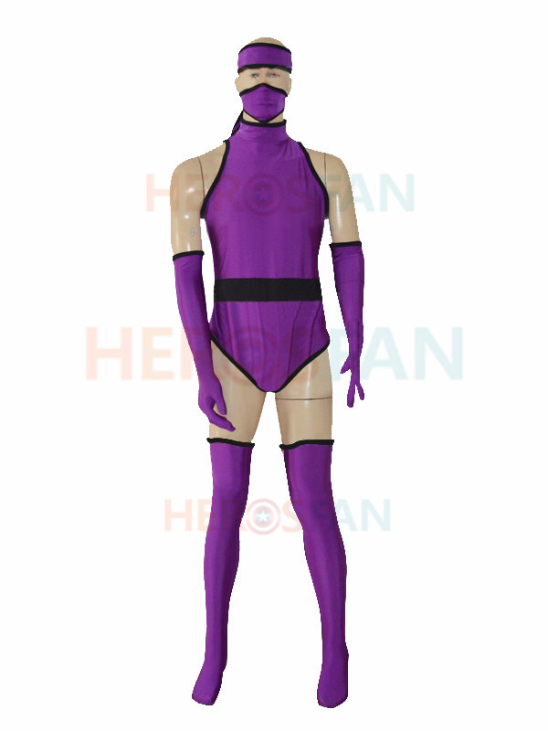 Custom Purple Ninja Superhero Halloween Cosplay Party Zentai Suit