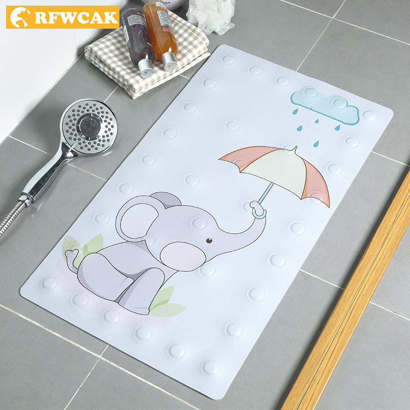 Permalink to RFWCAK PVC Non-slip Bathroom Mat Baby Safety Shower Bath Bead Massage Pad Suction Bath Shower Bathtub Carpet Bath Accessories