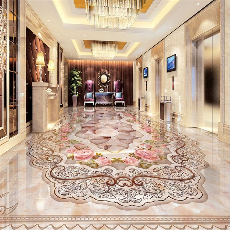 beibehang Home Decoration Continental Grand marbled parquet floor 3D Custom Photo self-adhesive 3D floor PVC waterproof floor beibehang custom photo floor painted