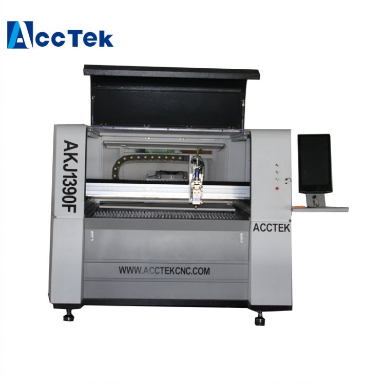 Jinan Acctek AKJ1390F Fiber Laser 1kw Cutting Machine For Jewelry
