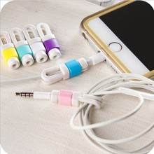 10Pcs/lot Earphone Cable Protector Organizer Charger Data Line Cord Protection Sleeves Cable Winder For iPhone 5s 6s