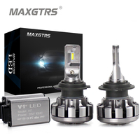 MAXGTRS Car LED Headlight H4 H7 H8 H11 9005 9006 HB3 9012 Canbus Lumileds Chip Auto