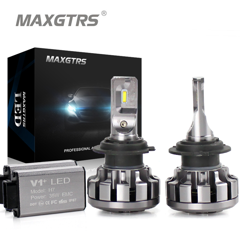 MAXGTRS Car LED Headlight H4 H7 H8 H11 9005 9006 HB3 9012 Canbus Lumileds Chip Auto Fog DRL Replace Light Source Driving Bulbs maxgtrs car led headlight h7 h4 led h8 h11 hb3 9005 hb4 9006 9012 csp chip 60w 6000lm auto bulb headlamp 6000k fog light