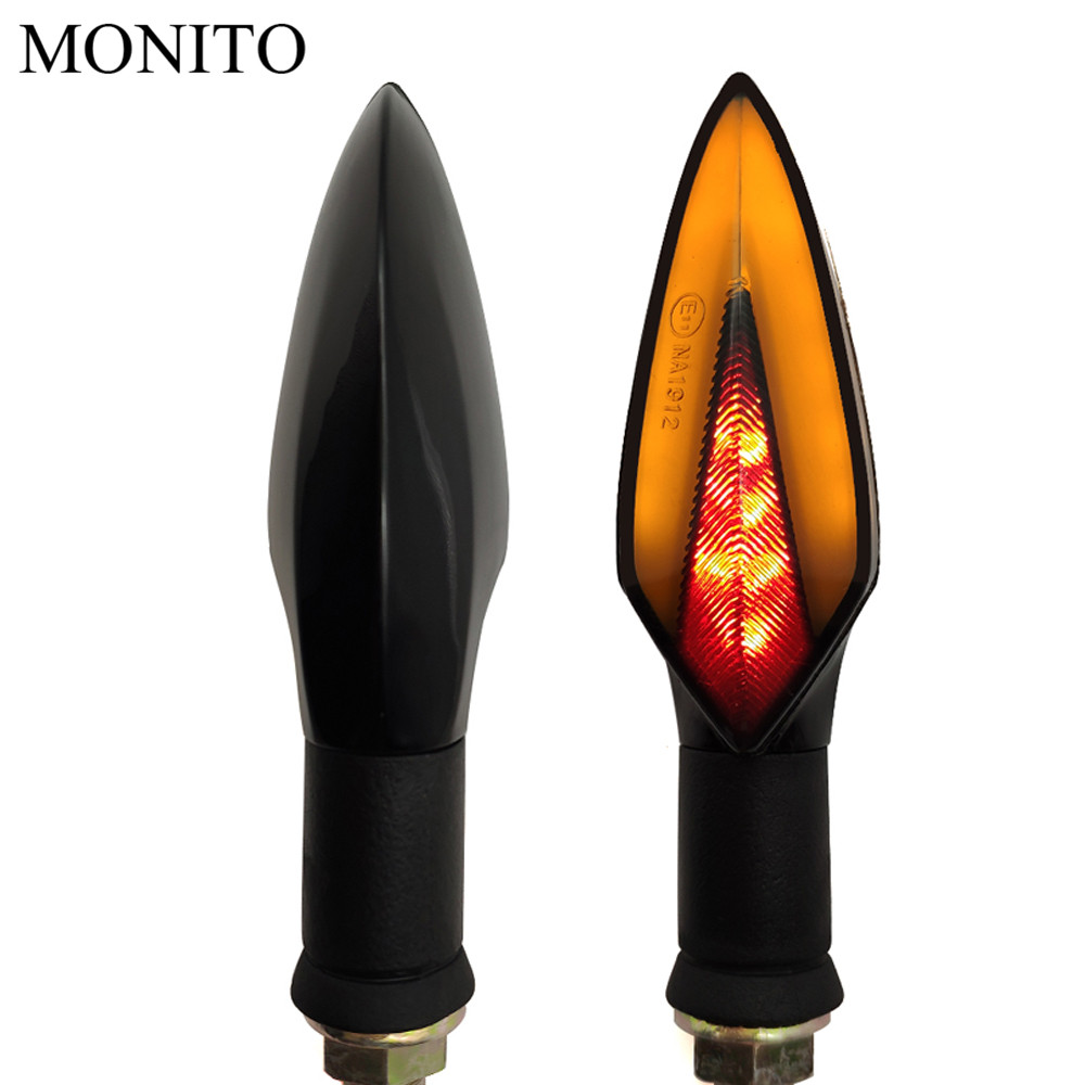 Motorcycle Turn Signal Lights LED Indicators Tail Flashers Amber Lamp For BMW C400GT C600 C650 C650GT Sport F650GS F700GS F800R